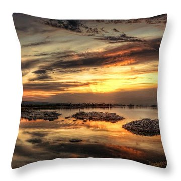 Cloudy Sunset Throw Pillow