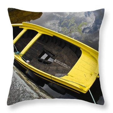 Cloudy Water Throw Pillow by Charlie Brock
