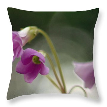 Throw Pillow featuring the photograph Clover Bells by Greg Allore