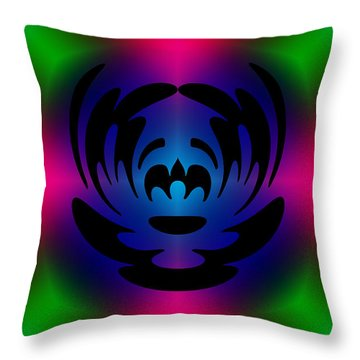 Clown In Color Throw Pillow by Steve Purnell