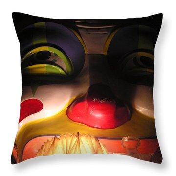Clown In The Antique Shop Throw Pillow