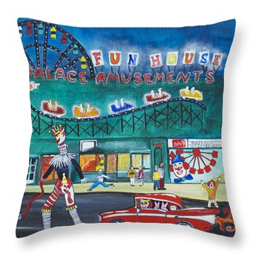 Clown Parade At The Palace Throw Pillow by Patricia Arroyo