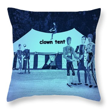Throw Pillow featuring the photograph Clown Tent by Nareeta Martin