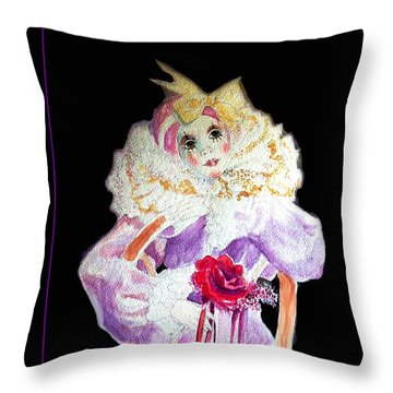 Clown Thinking Blank For You Throw Pillow