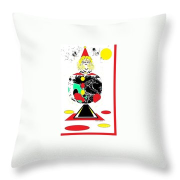 Clowning  Around 2 Throw Pillow