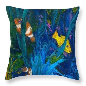 Clowning Around Throw Pillow by Denise Hoag