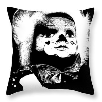 Clowning Around Throw Pillow by Linsey Williams