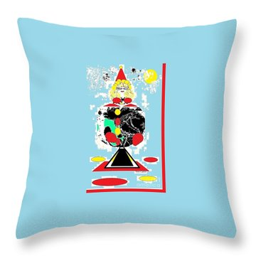 Clowning Around Throw Pillow by Ann Calvo