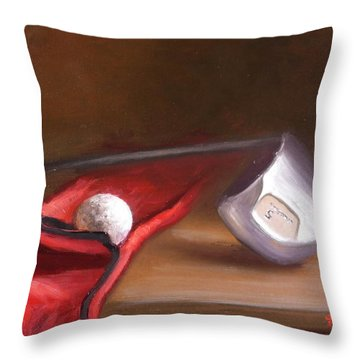 Club And Balls Throw Pillow