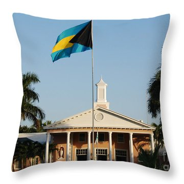 Clubhouse The Lyford Cay Club The Bahamas Throw Pillow