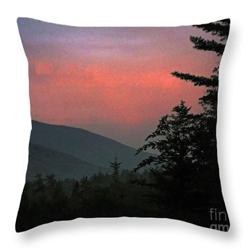 Clucks West Ossipee Mountain Sundown Throw Pillow