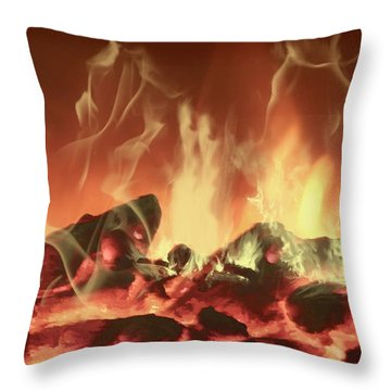 C'mon Baby Light My Fire Throw Pillow