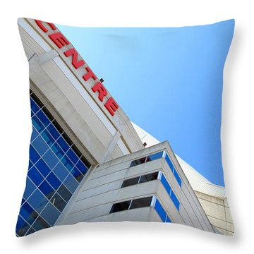 Cn Tower And Rogers Centre Throw Pillow by Valentino Visentini