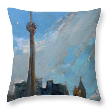 Cn Tower Throw Pillows