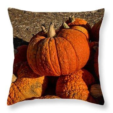 Knarly Pumpkin Throw Pillow