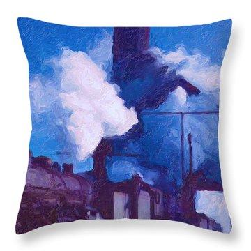 Coal Station Throw Pillow