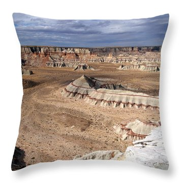 Coal Mine Mesa 11 Throw Pillow by Jeff Brunton
