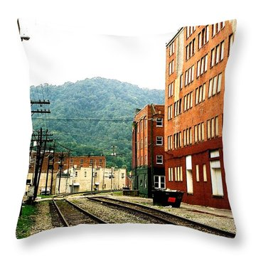 Throw Pillow featuring the photograph Coal Town Highway by Carlee Ojeda