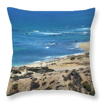 Throw Pillow featuring the photograph Coast Baja California by Christine Till