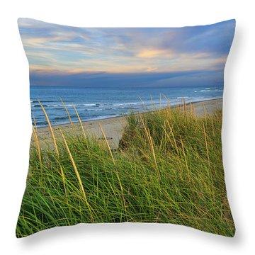 Coast Guard Beach Cape Cod Throw Pillow by Bill Wakeley
