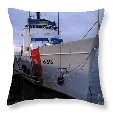 Coast Guard Cutter Alert Throw Pillow