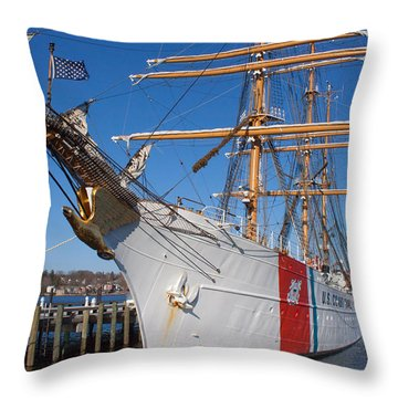 Coast Guard Cutter Eagle Throw Pillow