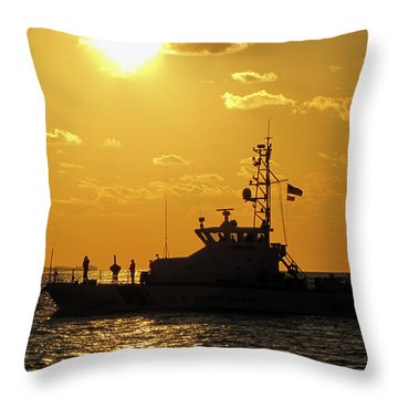 Coast Guard In Paradise - Key West Throw Pillow