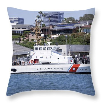 Coast Guard Throw Pillow by Shoal Hollingsworth