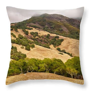Coast Hills Throw Pillow by Alice Cahill