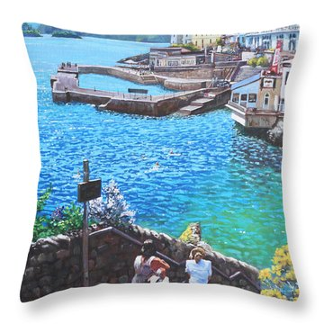 Coast Of Plymouth City Uk Throw Pillow