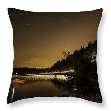 Twilight Railroad Throw Pillow