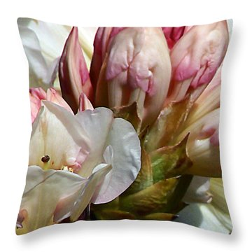 Coast Rhododendron Throw Pillow
