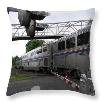 Coast Starlight In Salem Throw Pillow