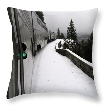 Coast Starlight In The Mountains Throw Pillow