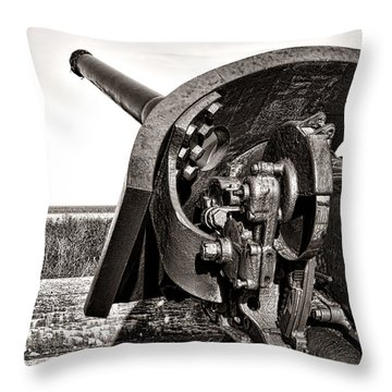 Coastal Artillery Throw Pillow