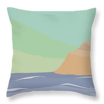Coastal Bank Throw Pillow