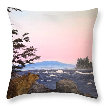 Coastal Bear Throw Pillow