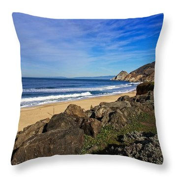 Throw Pillow featuring the photograph Coastal Beauty by Dave Files