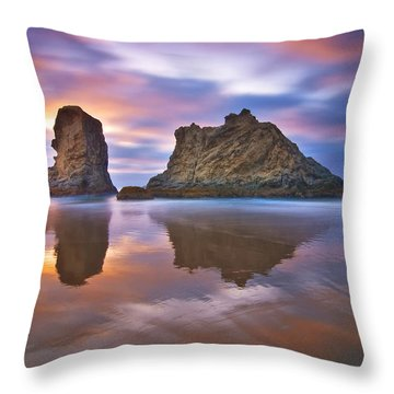 Coastal Cloud Dance Throw Pillow