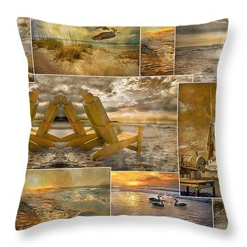 Coastal Connections Throw Pillow by Betsy Knapp