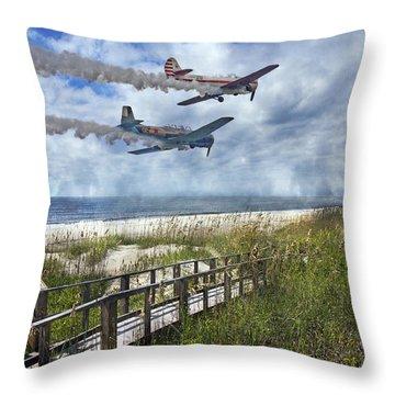 Coastal Flying Throw Pillow
