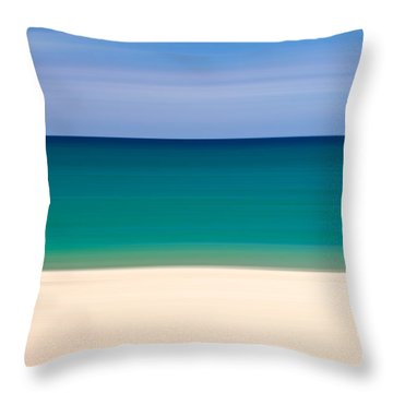 Coastal Horizon 8 Throw Pillow by Delphimages Photo Creations