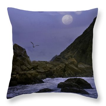 Coastal Moods Moonglo Throw Pillow