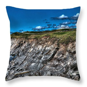 Throw Pillow featuring the photograph Coastal Nova Scotia by Joe  Ng