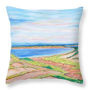 Coastal Patchwork Throw Pillow