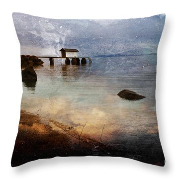 Coastal Path Throw Pillow by Randi Grace Nilsberg