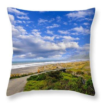 Coastal Road Throw Pillow
