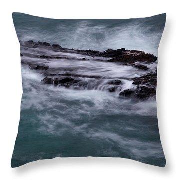 Coastal Rocks Off Rancho Palo Verdes Photography By Denise Dube Throw Pillow