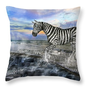 Coastal Stripes I Throw Pillow by Betsy Knapp