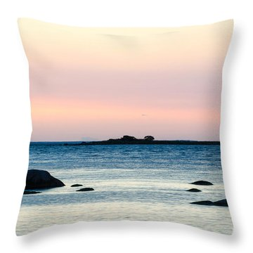 Coastal Twilight View Throw Pillow